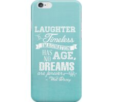 Laughter is Timeless in Ariel Aqua iPhone Case/Skin