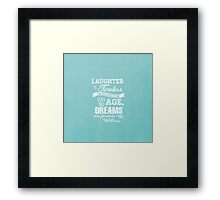 Laughter is Timeless in Ariel Aqua - Chalk Word Art Framed Print