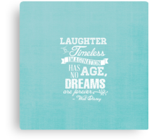 Laughter is Timeless in Ariel Aqua Canvas Print