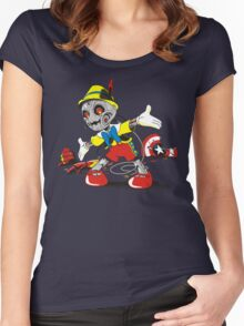 NO STRINGS Women's Fitted Scoop T-Shirt