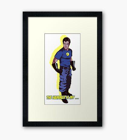 Captain Hammer  Framed Print