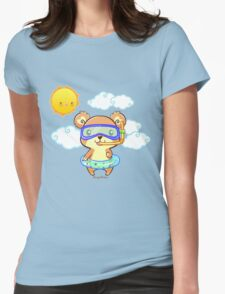 Summer Snorkeling Bear Womens Fitted T-Shirt