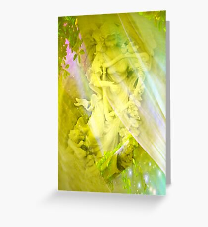 An Angel's Song by Marie Sharp and Sally Omar Greeting Card