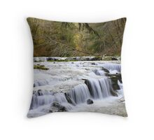 Falls along Sweet Creek Throw Pillow