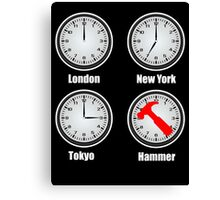 Hammer World Time Canvas Print