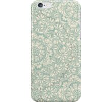 Sage Medallion with Butterflies & Daisy Chains iPhone Case/Skin