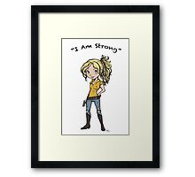 Beth: I Am Strong Framed Print