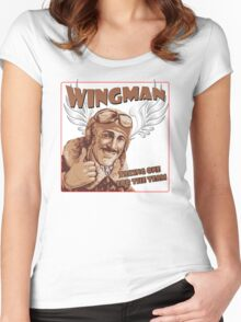 The Wingman taking one for the team Women's Fitted Scoop T-Shirt