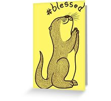 Fortunate Otter Greeting Card