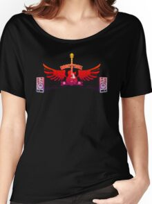 Rock and Roll Guitar Wings Women's Relaxed Fit T-Shirt