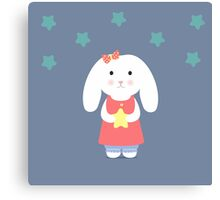 Cute Bunny holding a star  Canvas Print