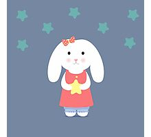 Cute Bunny holding a star  Photographic Print