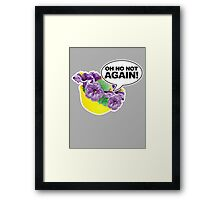 Oh No Not again Bowl of Petunias Framed Print