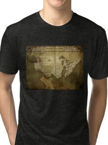 Map of Future America: 6023 A.D. Tri-blend T-Shirt