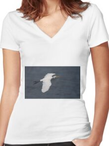 Great White Beauty Women's Fitted V-Neck T-Shirt