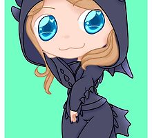 Jocy in a Toothless hoodie by SpazzyWolf