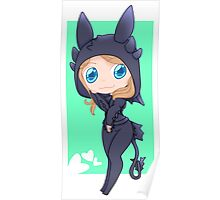 Jocy in a Toothless hoodie Poster
