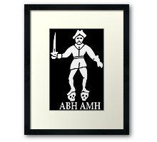 Bartholomew Roberts Pirate Flag Framed Print