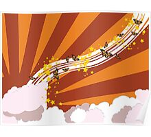 Abstract summer sky illustration Poster