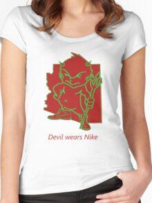 devil wears Nike Women's Fitted Scoop T-Shirt