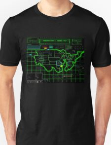Map of Future America: 3023 A.D. Unisex T-Shirt