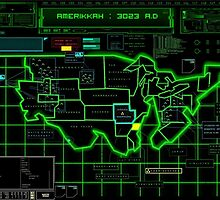 Map of Future America: 3023 A.D. by MidgardMaps