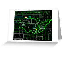 Map of Future America: 3023 A.D. Greeting Card
