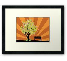 Beautiful sakura and bench 3 Framed Print
