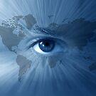 World-map and  blue eye by Olga Altunina