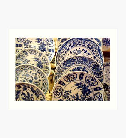 Blue China Blues  ^ Art Print
