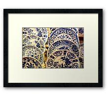 Blue China Blues  ^ Framed Print