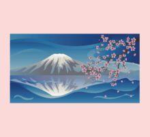 Branch of Sakura and Volcano Kids Clothes