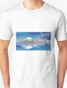 Branch of Sakura and Volcano T-Shirt