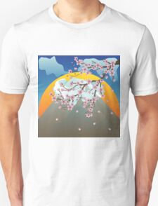 Branch of Sakura and Volcano 2 T-Shirt