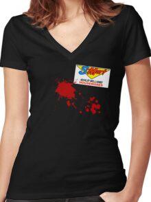 S-Mart Housewares Women's Fitted V-Neck T-Shirt