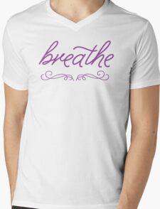 Breathe- Purple Mens V-Neck T-Shirt