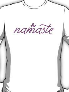 Namaste- purple T-Shirt
