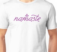 Namaste- purple Unisex T-Shirt