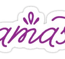 Namaste- purple Sticker