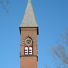 The First Congregational Church Gardner MA Steeple by Rebecca Bryson