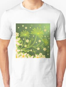 Green floral background Unisex T-Shirt