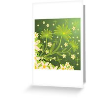 Green floral background Greeting Card