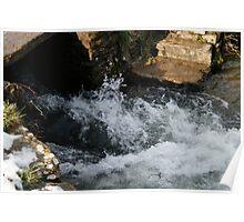 Water rushing Through  Poster