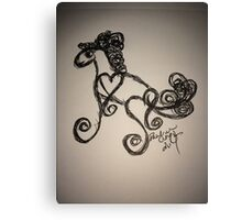 I Heart Ponies  Canvas Print