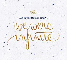 We were infinite by earthlightened