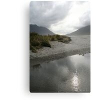 Reflective Plains Metal Print