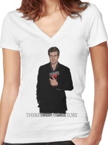 Richard Castle Women's Fitted V-Neck T-Shirt