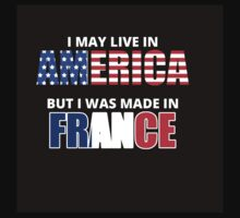 I may Live in America but I Was Made in France - T Shirt & Hoodies by rbkrishna