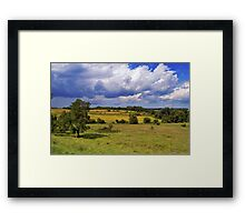 Yellow Prairie In Storm Framed Print