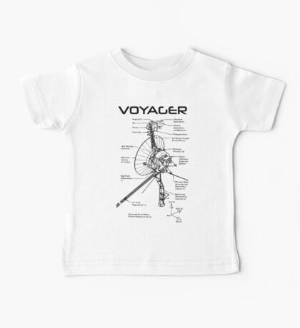 Voyager Program - Black Ink Baby Tee